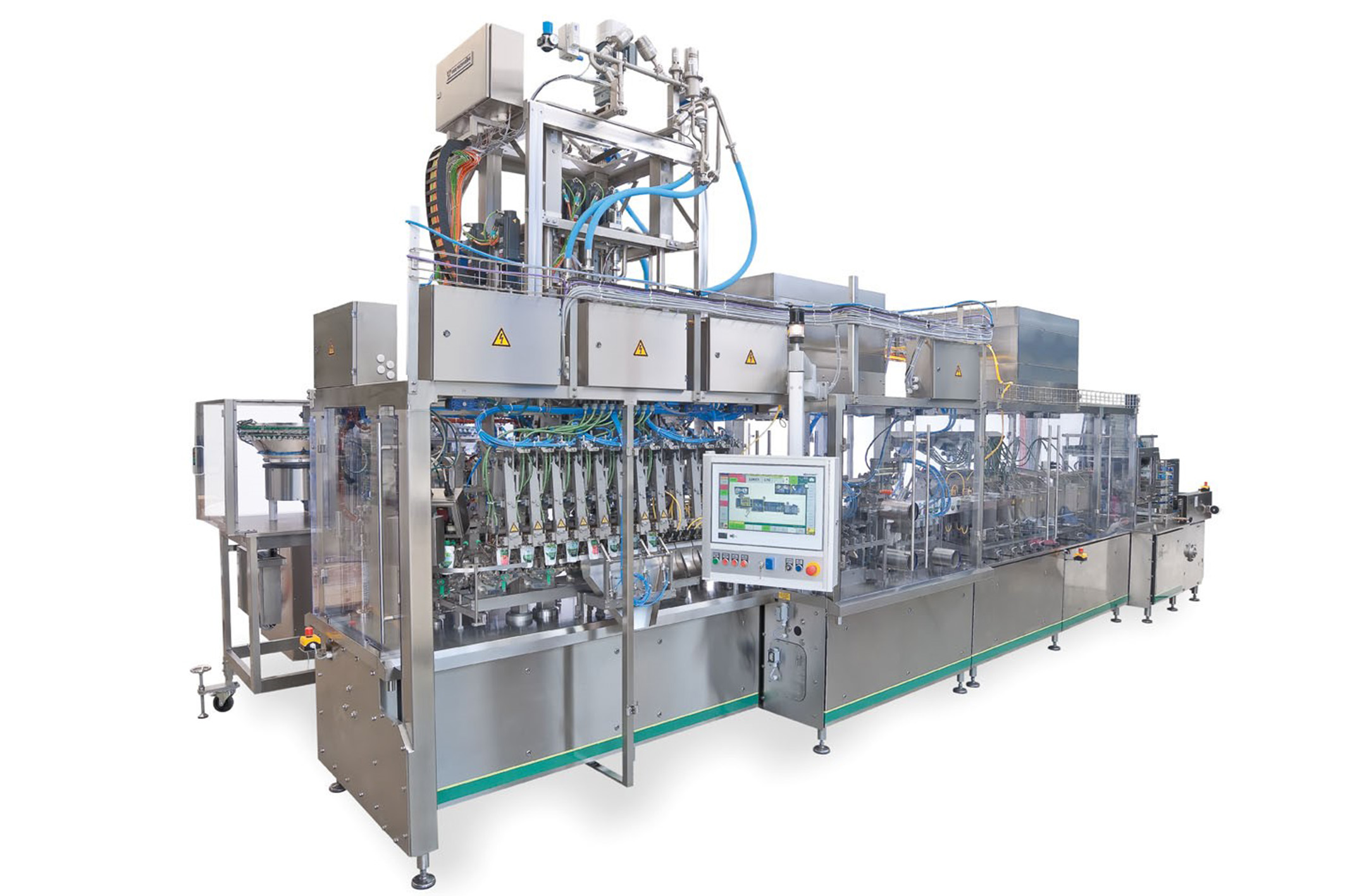 image of sn pouch machine for filling yogurt